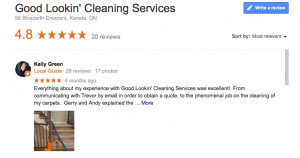 Good Lookin Cleaning Services, Google Review